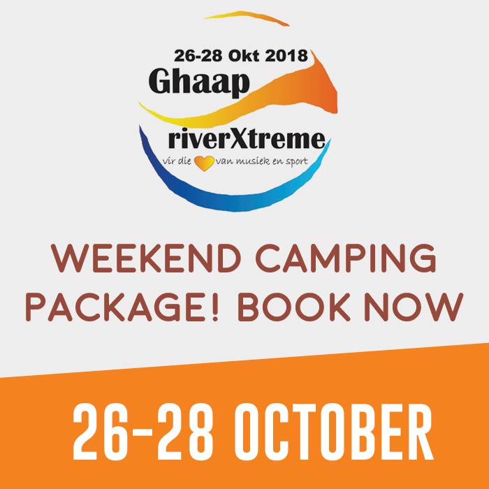 Broadwater weekend camping package for Ghaap RiverXtreme