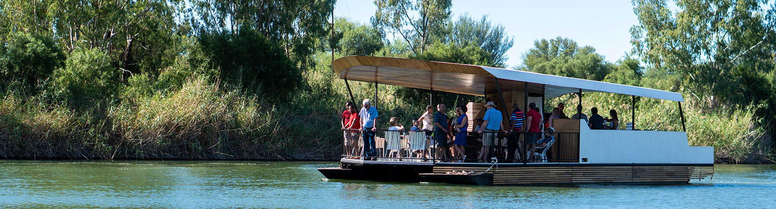 family boat cruise on the vaal