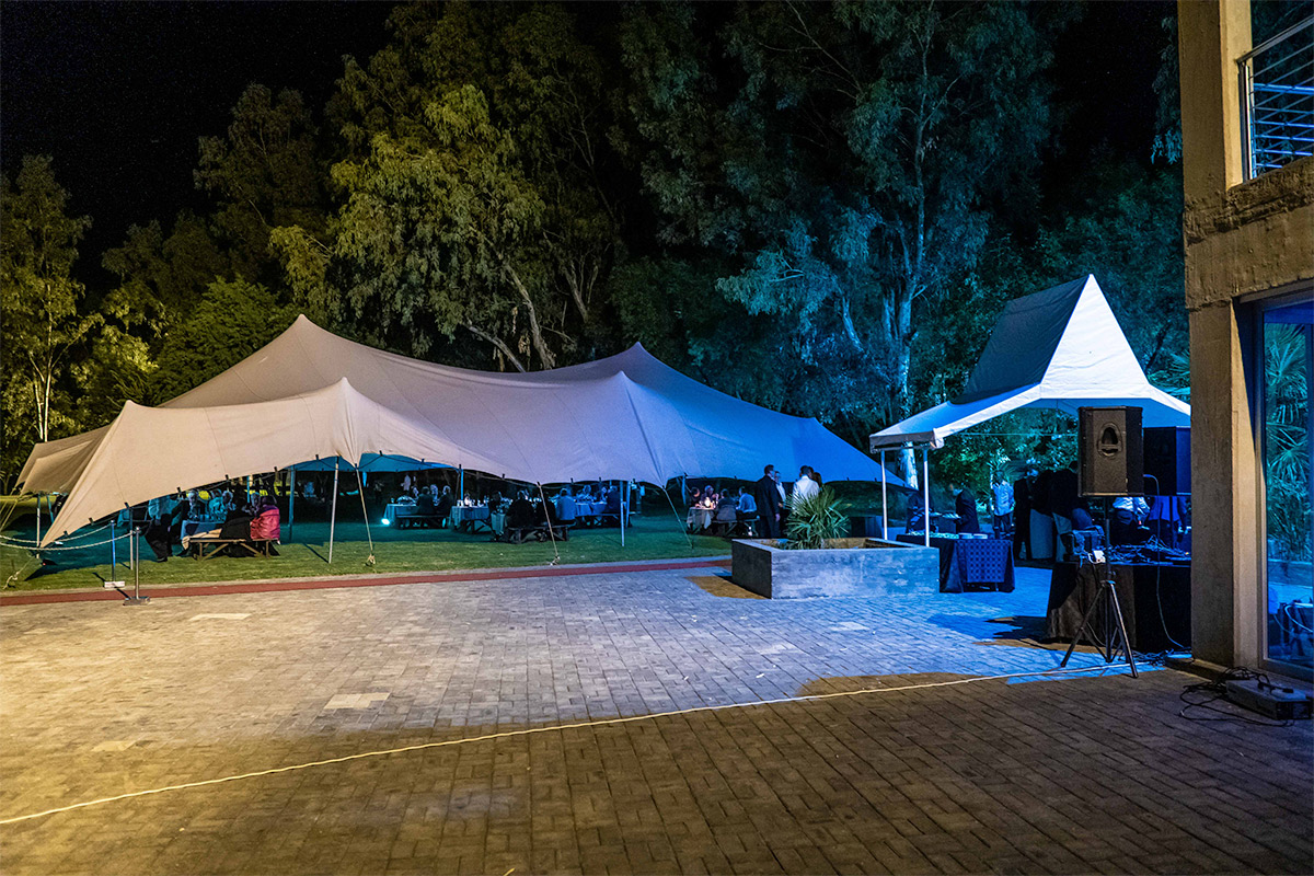 outdoor function under the trees