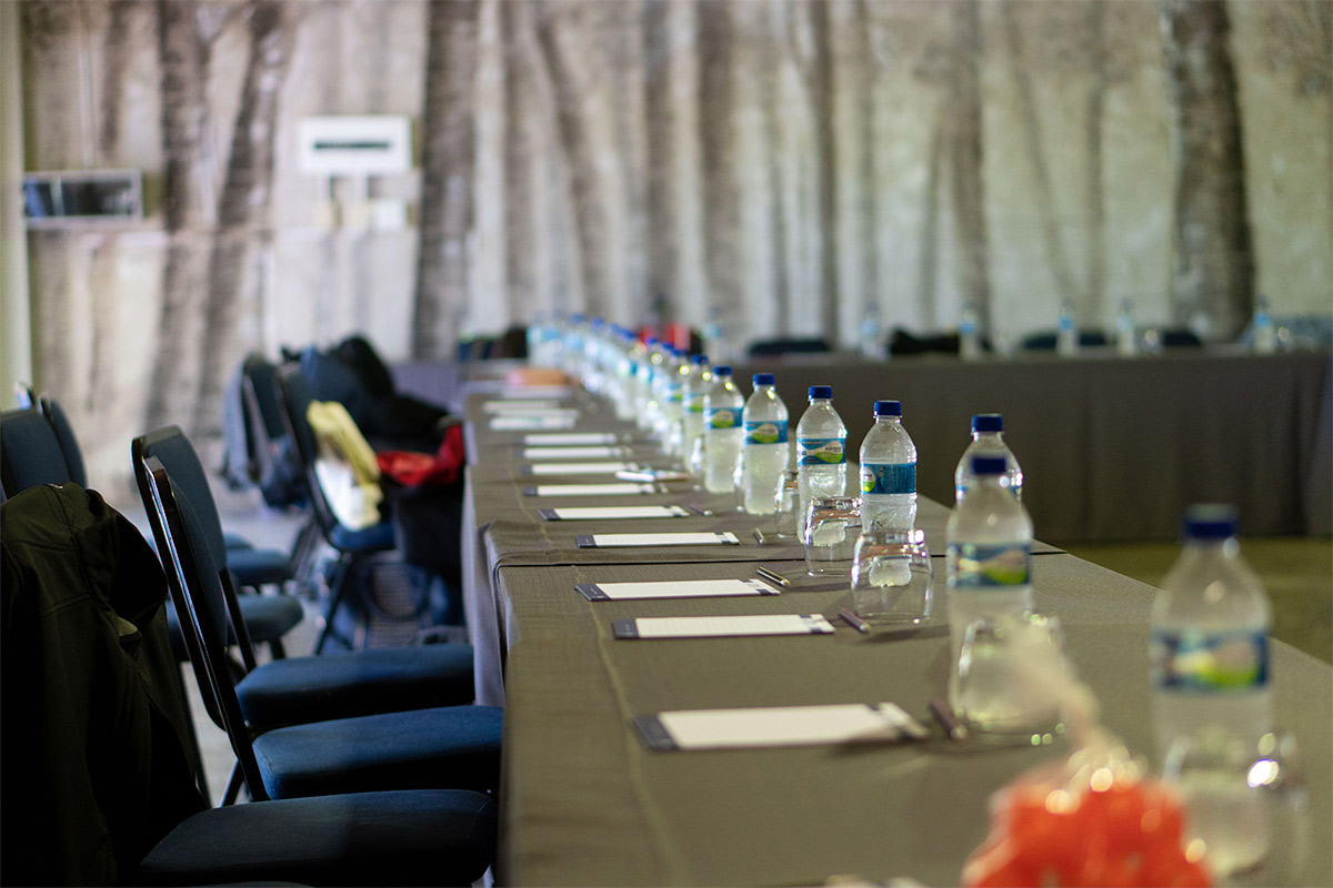 table and conference setup at broadwater venue