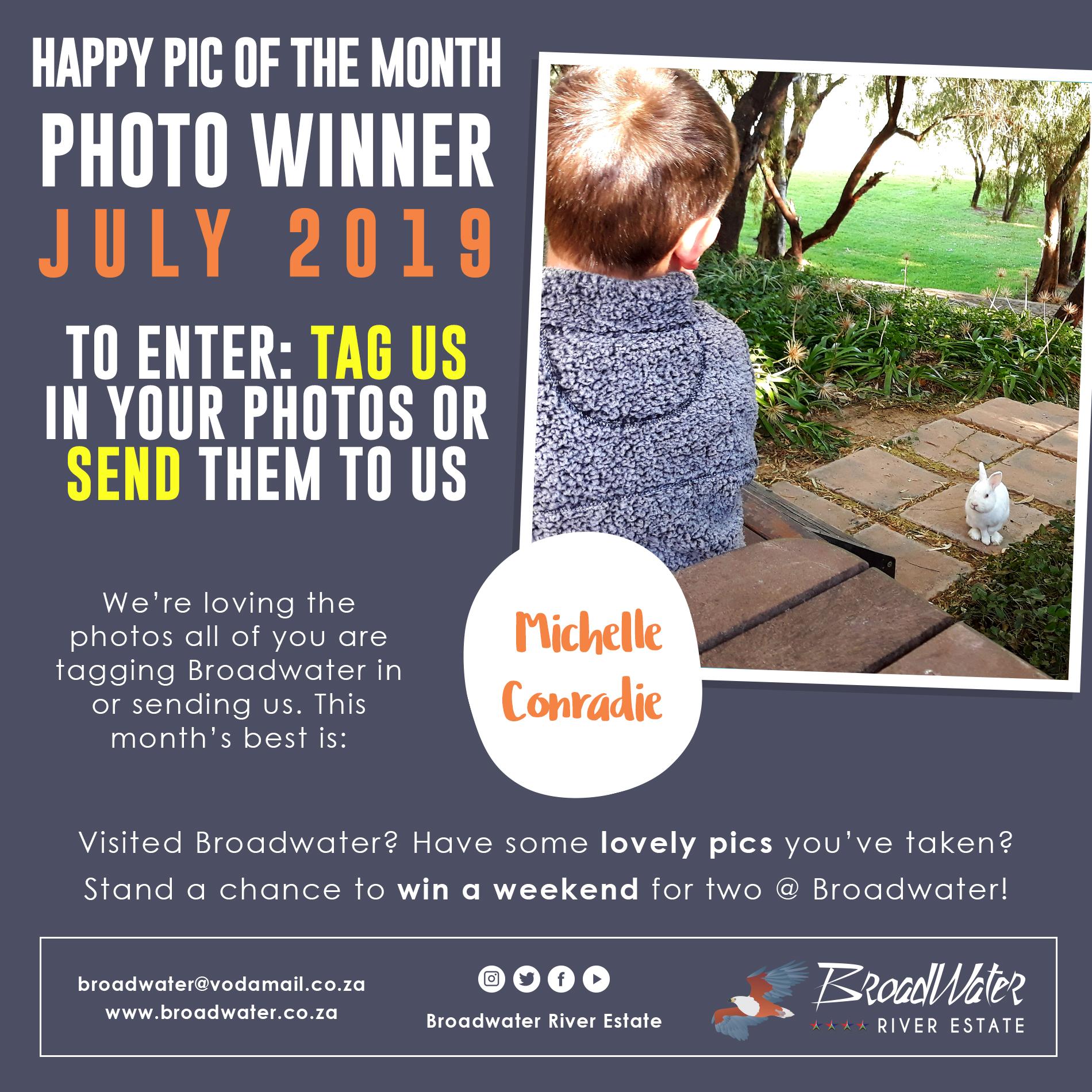 happy photo winner for july