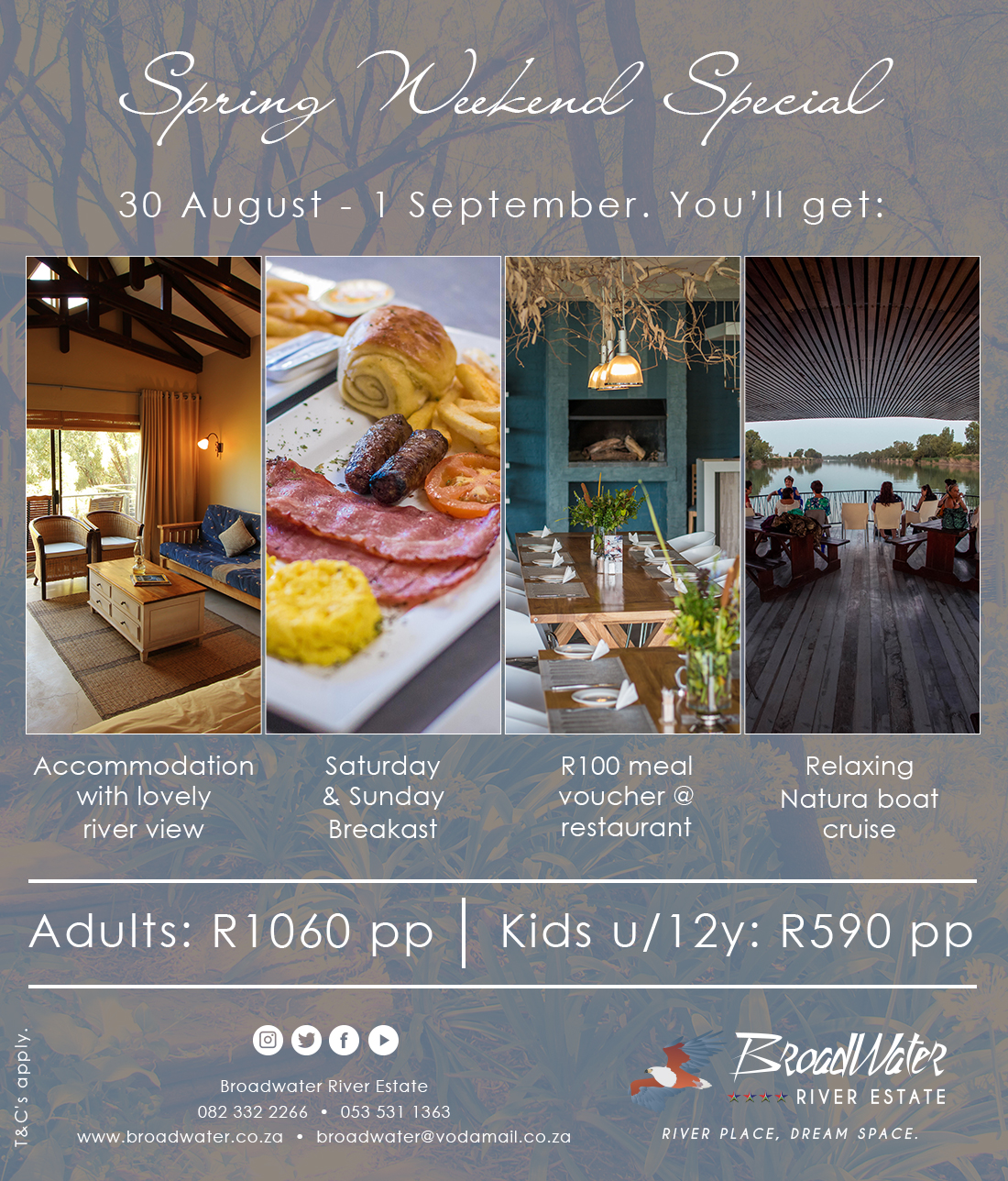 spring weekend special accommodation, breakfast, voucher and boat cruise