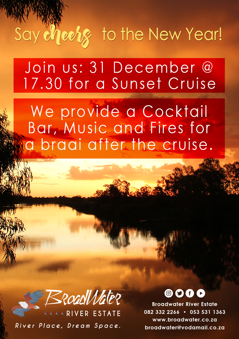 say cheers to the new year, we provide a cocktail bar, music, and fires for a braai after the cruise