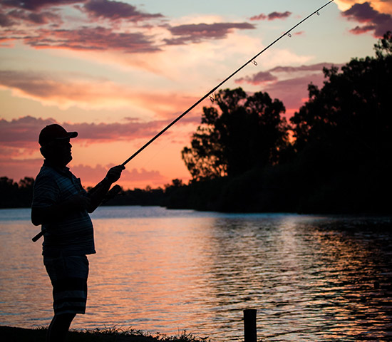 fishing at Broadwater river estate