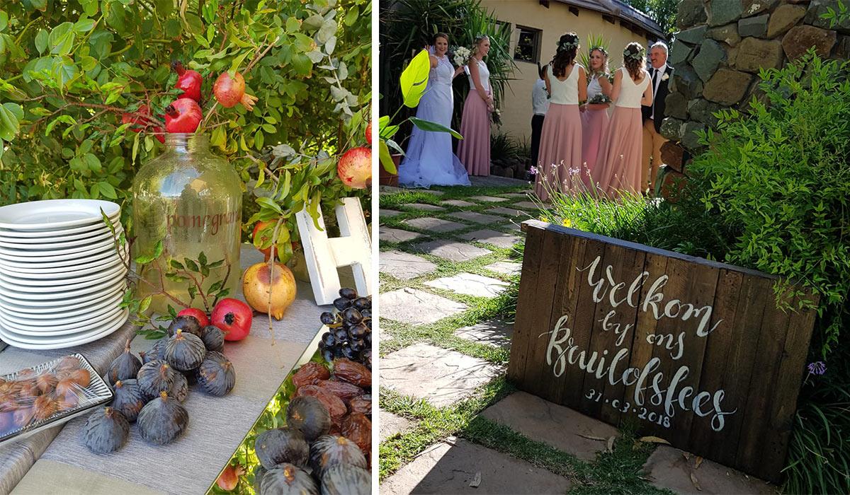 a beautiful wedding at Broadwater, outdoors
