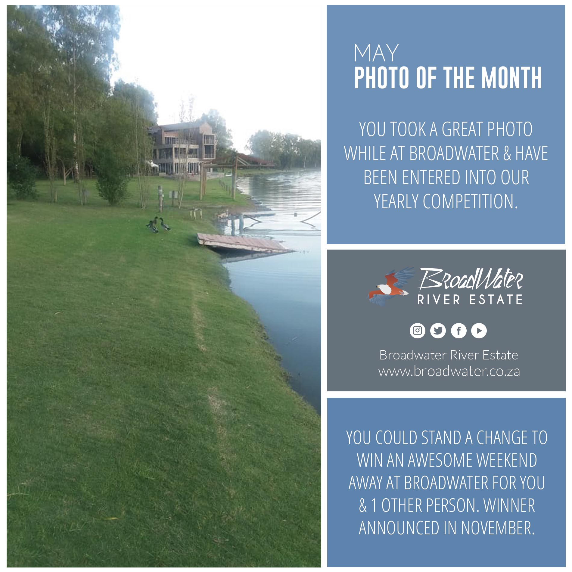 Photo of the month winner at Broadwater
