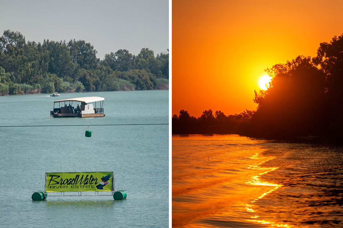 Sunsets at broadwater overlooking the Vaal river