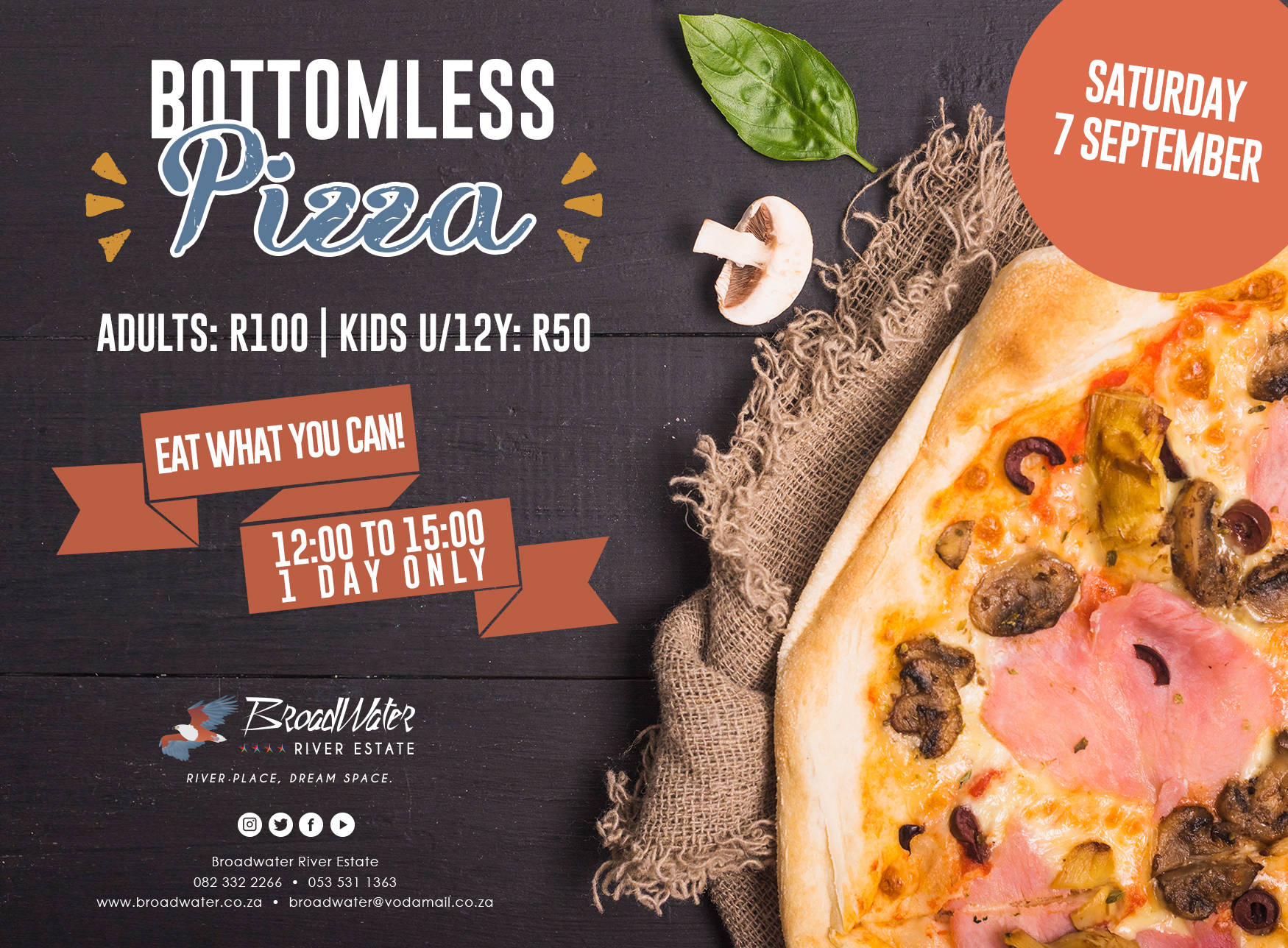 bottomless pizza on saturdays