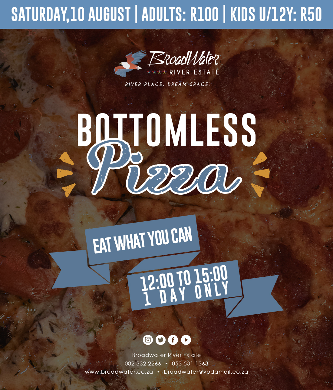 bottomless pizza eat what you can
