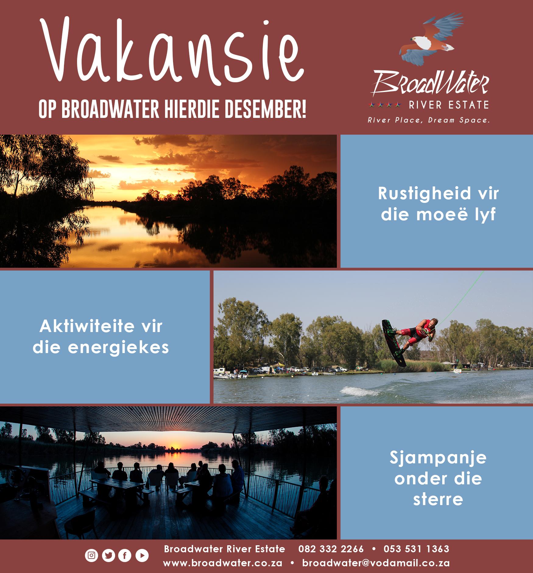 vakansie op broadwater hierdie december!